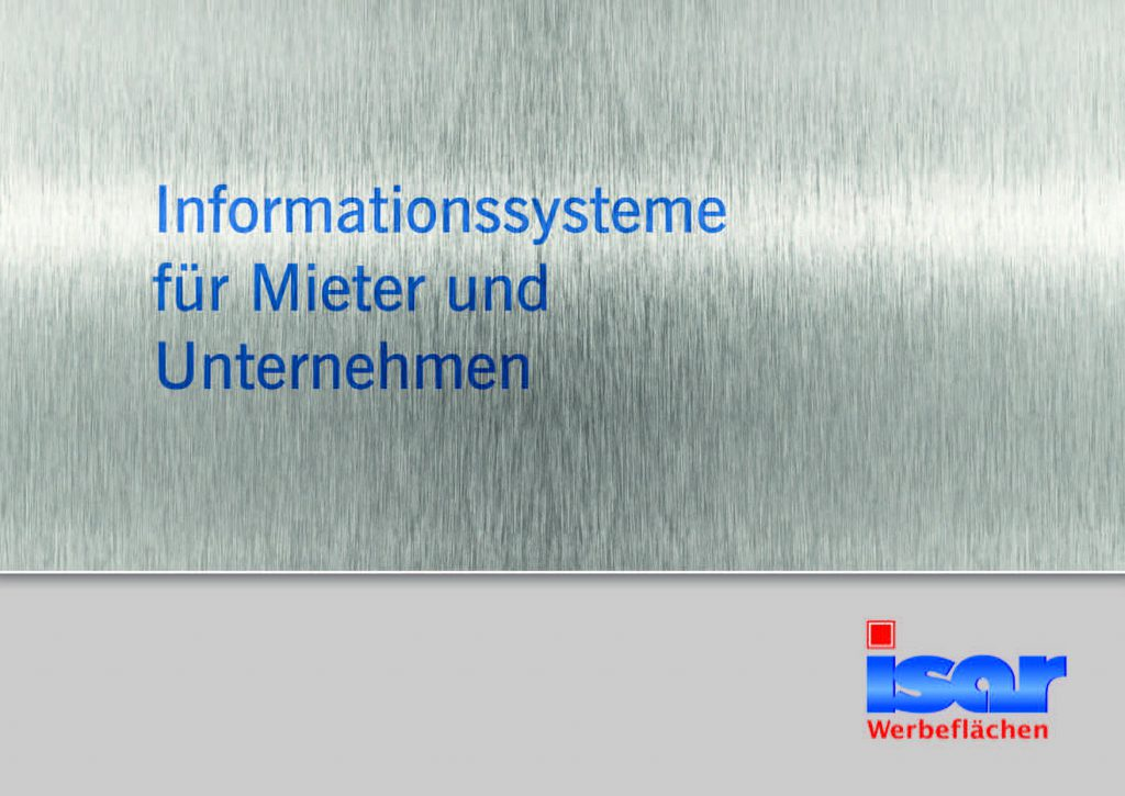 Isar Werbeflächen GmbH Infobroschüre Seite 1